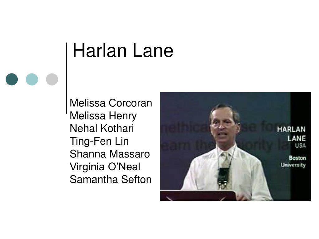 Harlan Lane
