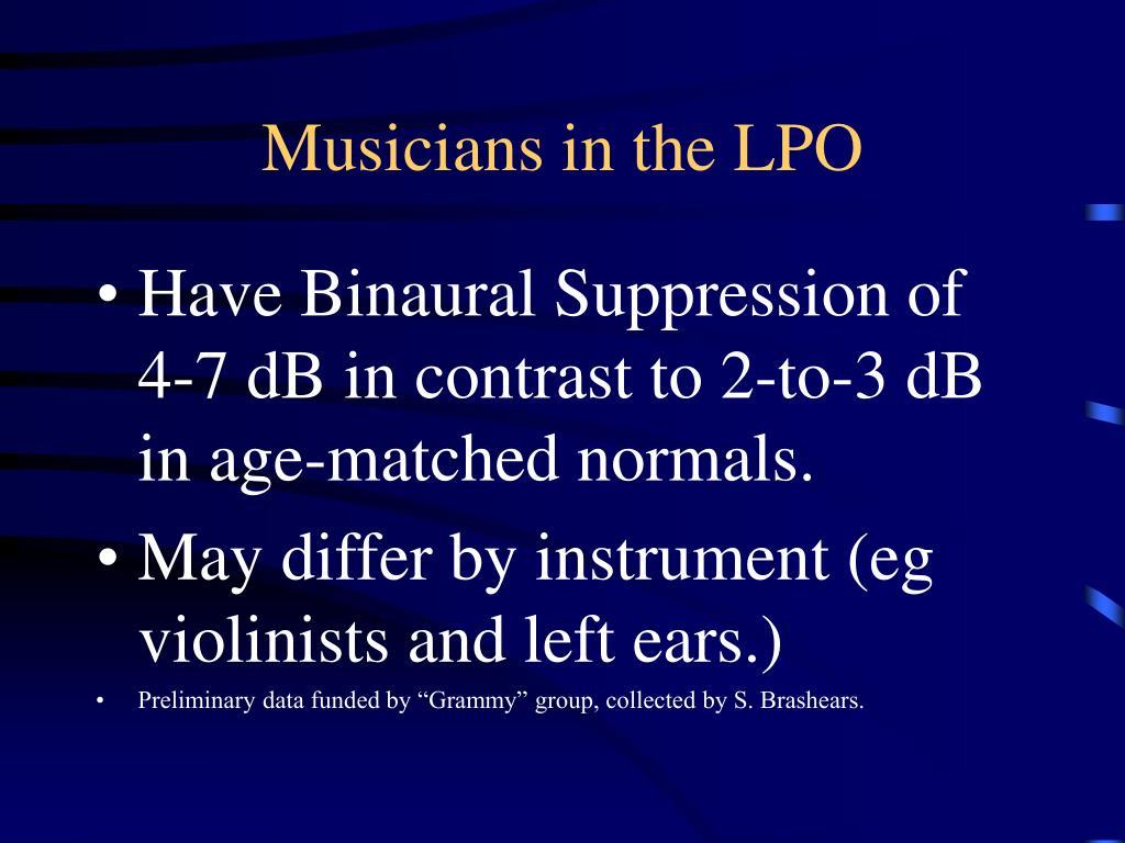 Musicians in the LPO