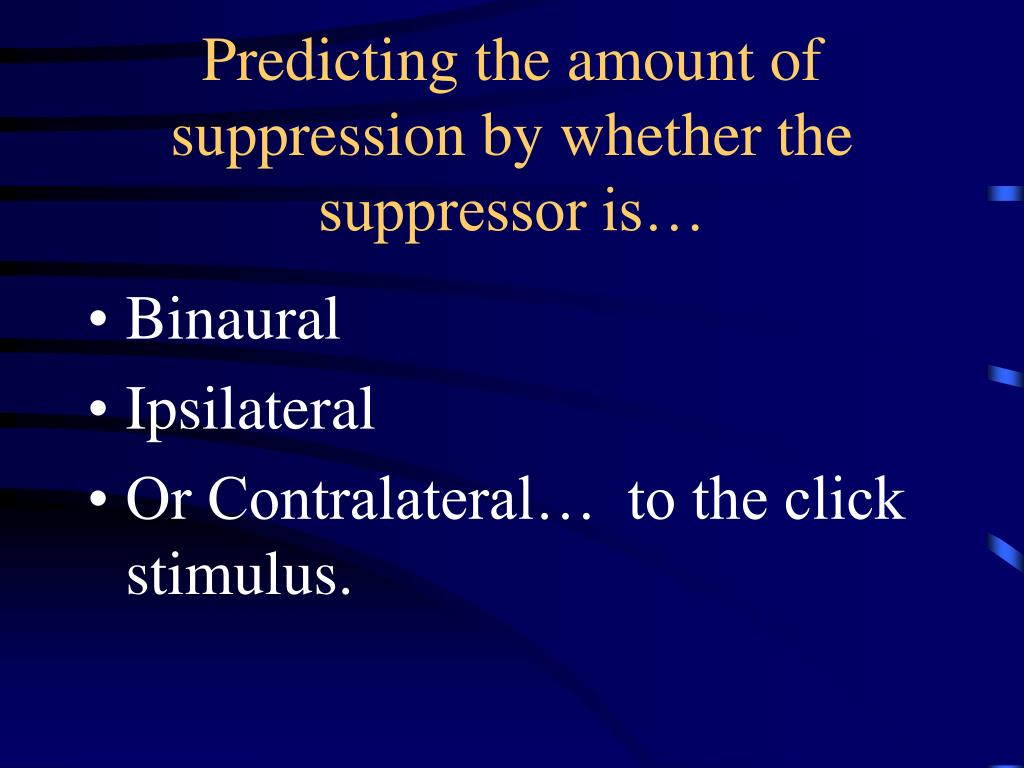 Predicting the amount of suppression by whether the suppressor is…