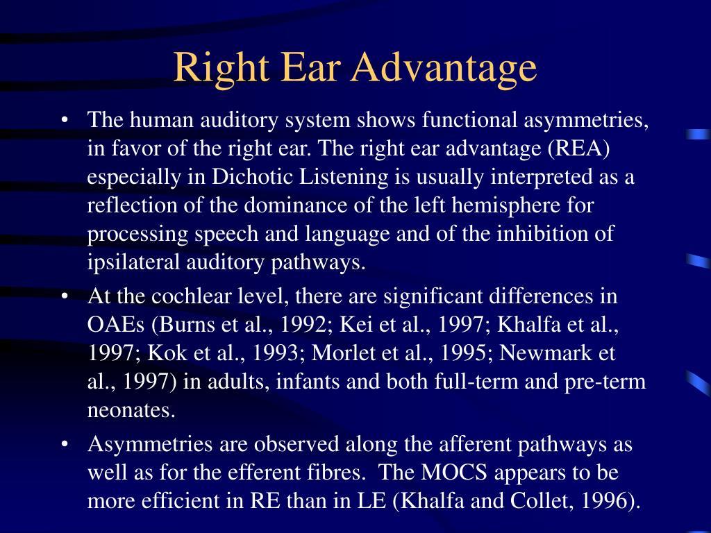 Right Ear Advantage