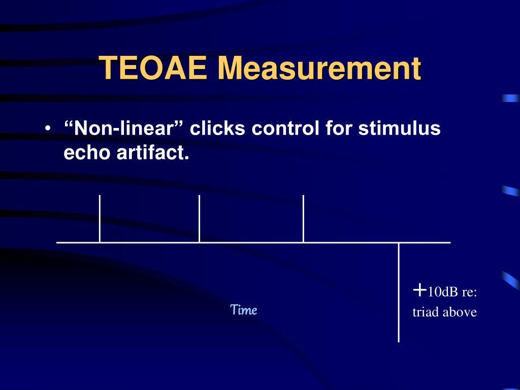 TEOAE Measurement
