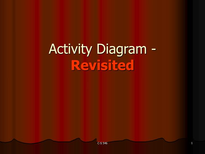 Activity diagram revisited