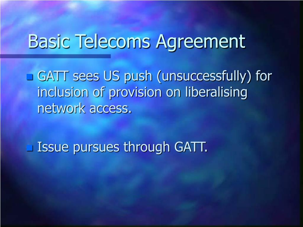 Basic Telecoms Agreement