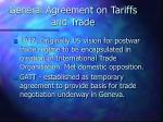 general agreement on tariffs and trade5