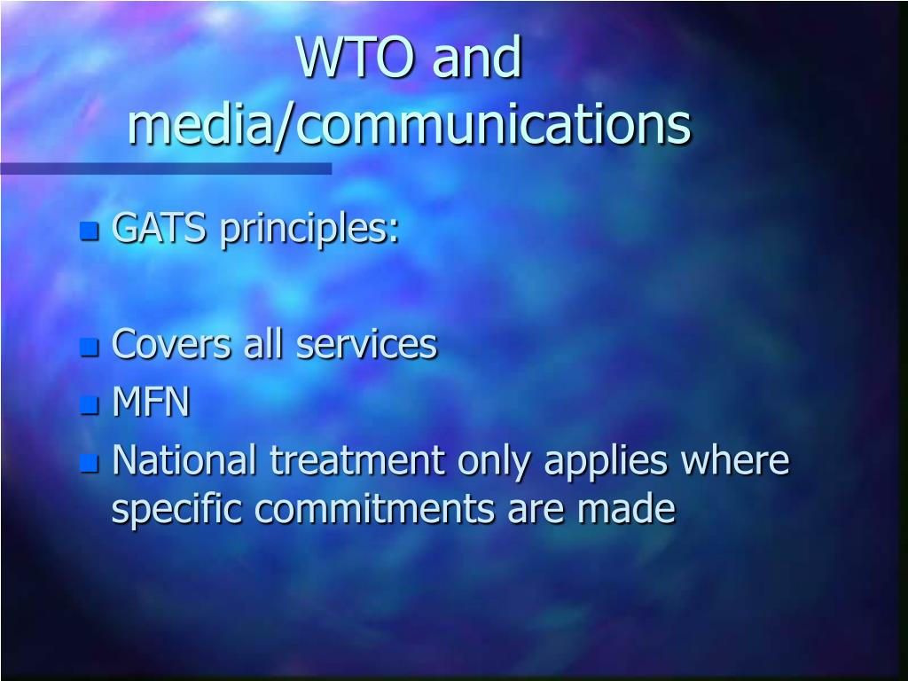 WTO and media/communications
