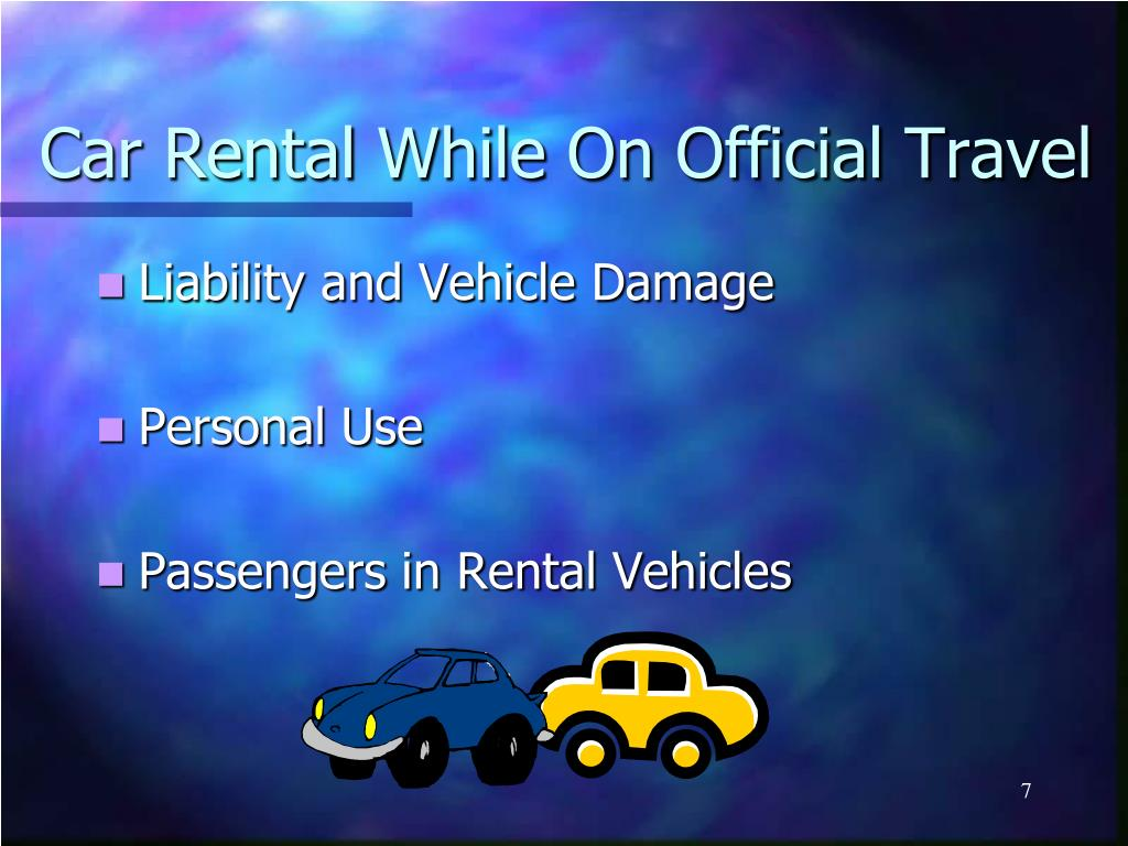Car Rental While On Official Travel