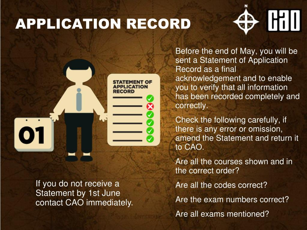 APPLICATION RECORD
