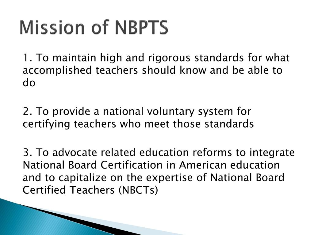 Mission of NBPTS