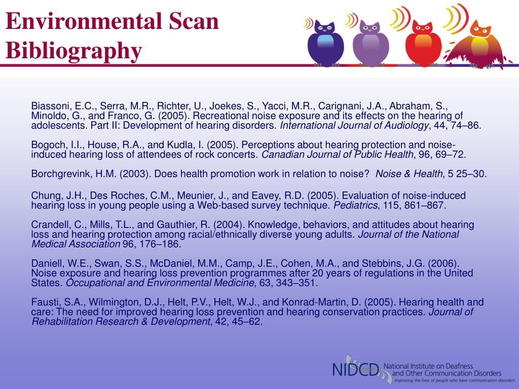 Environmental Scan Bibliography