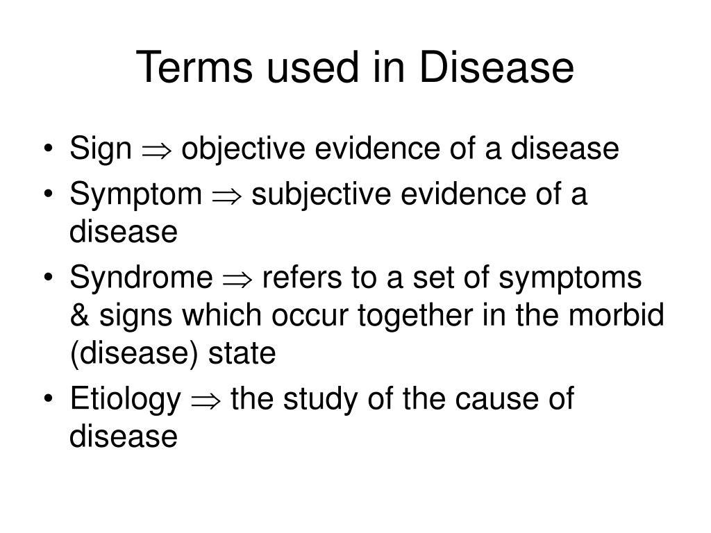 Terms used in Disease