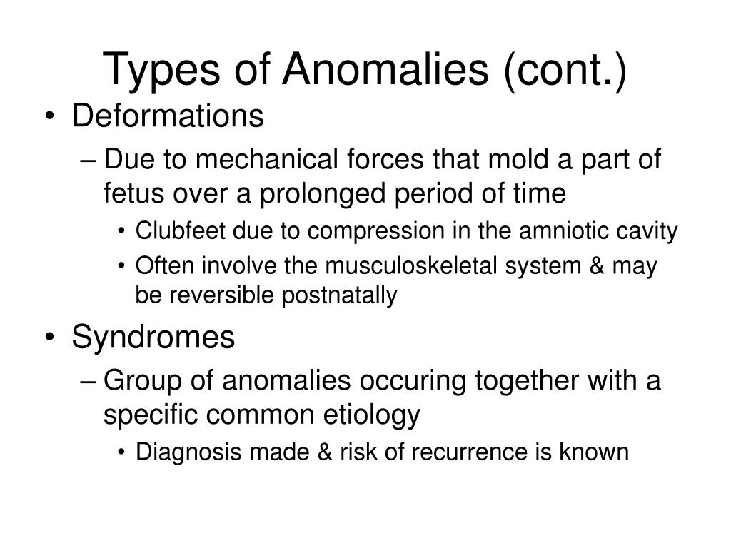 Types of Anomalies (cont.)