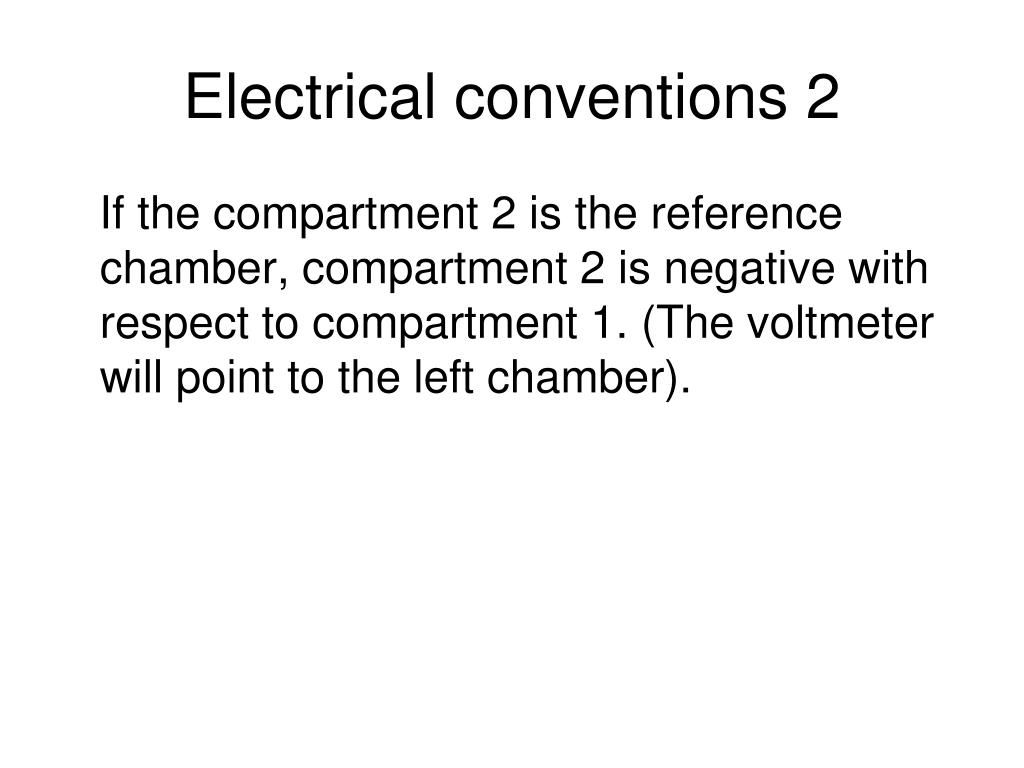 Electrical conventions 2