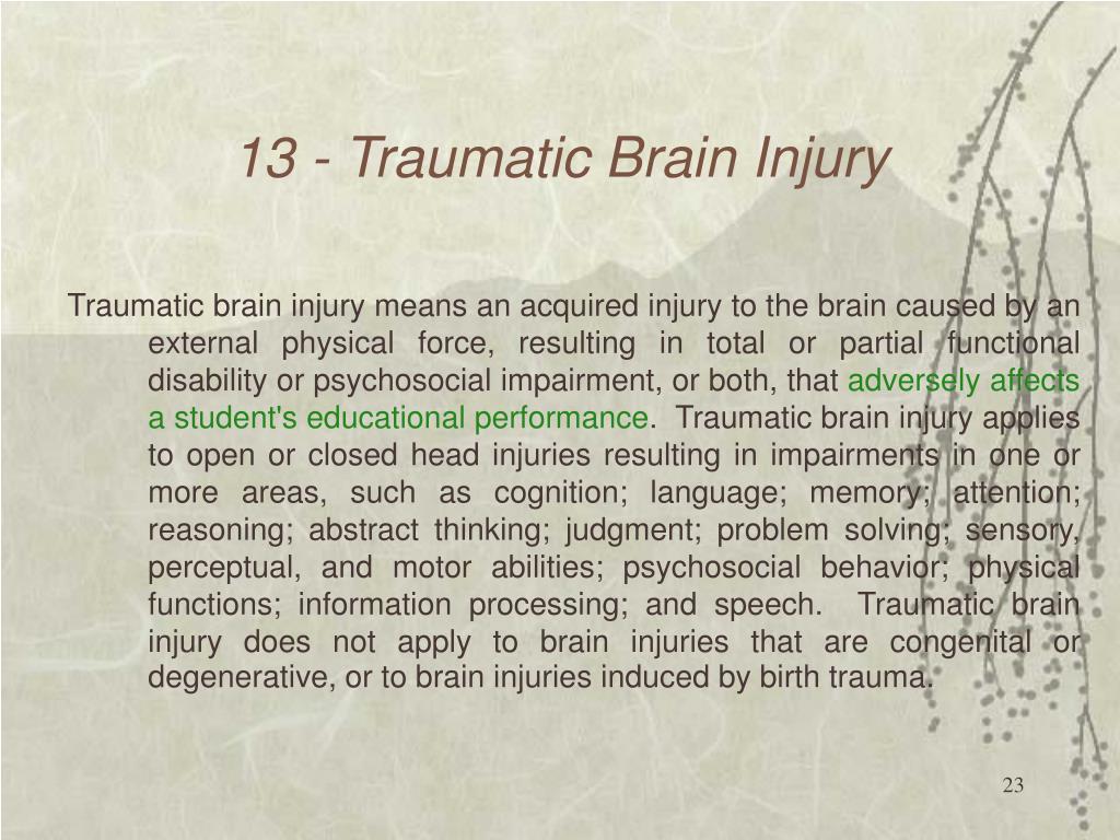 13 - Traumatic Brain Injury