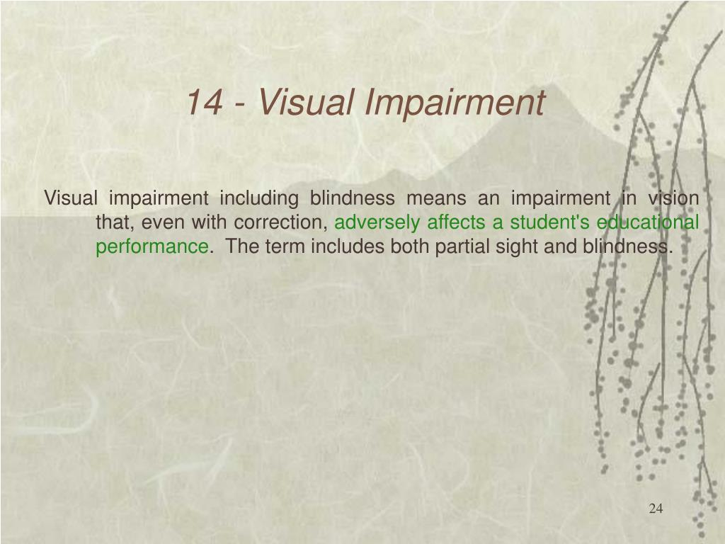 14 - Visual Impairment