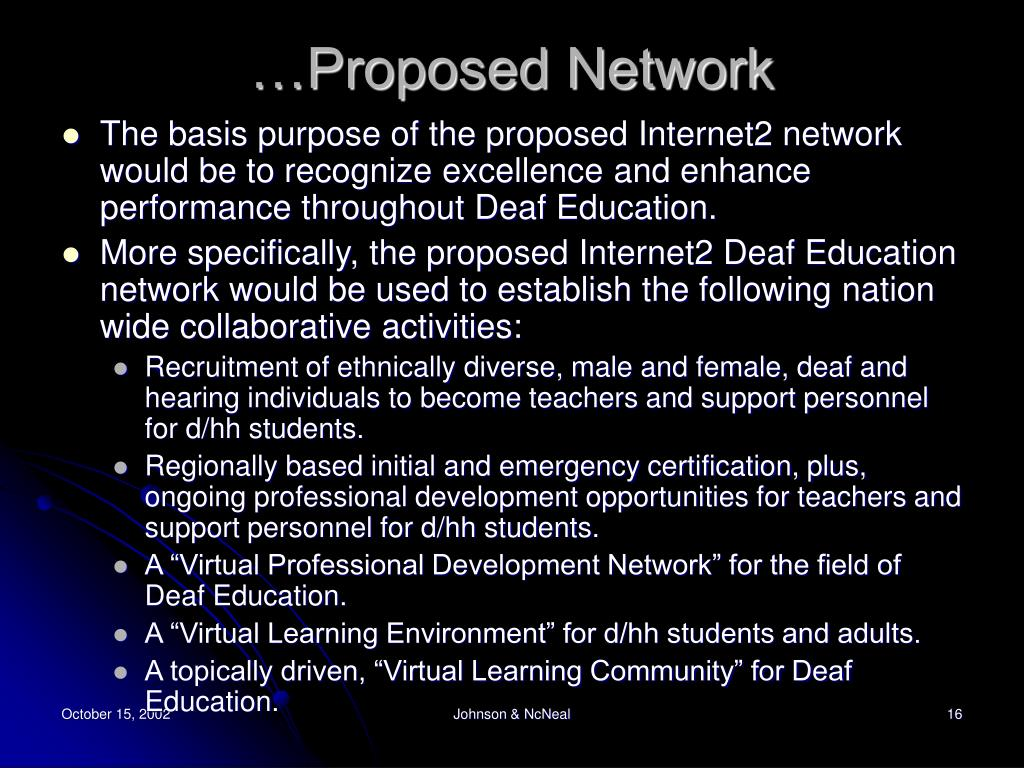 …Proposed Network