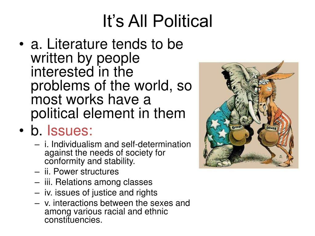 how to read like a political Chapter 13 - it's all political as you are reading and annotating how to read literature like a professor by thomas c foster.