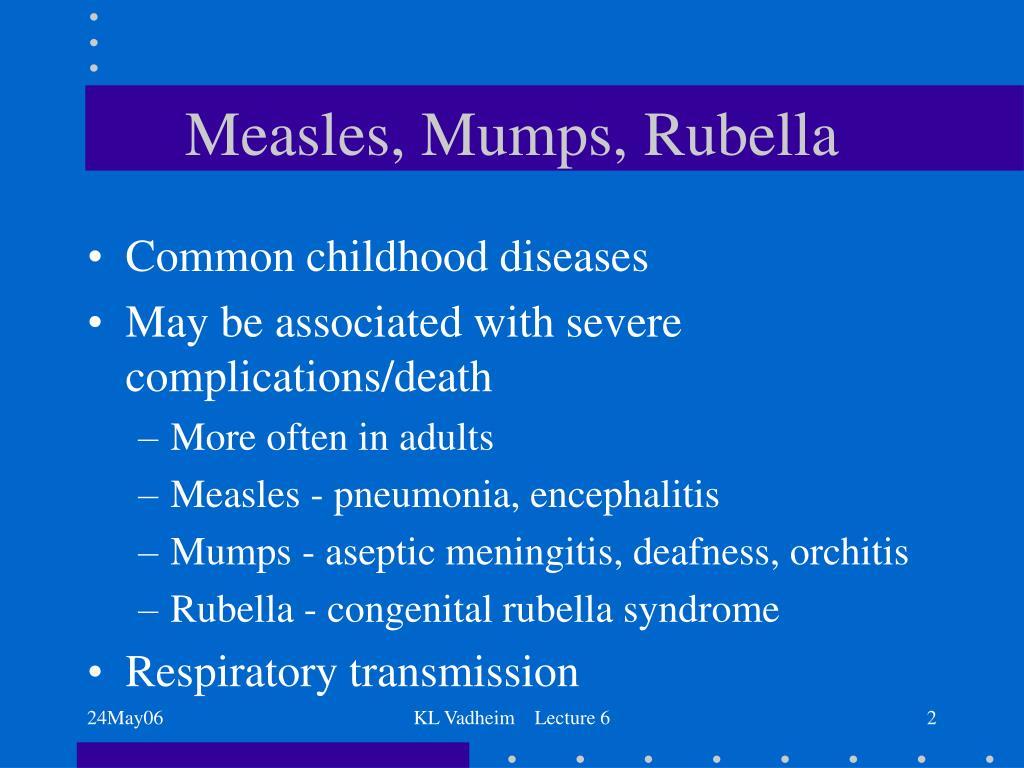 Measles, Mumps, Rubella