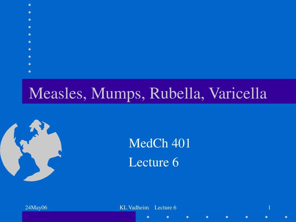 Measles, Mumps, Rubella, Varicella