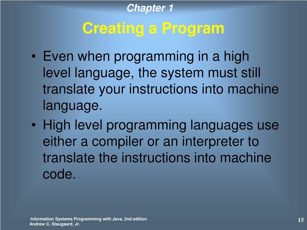 Creating a Program