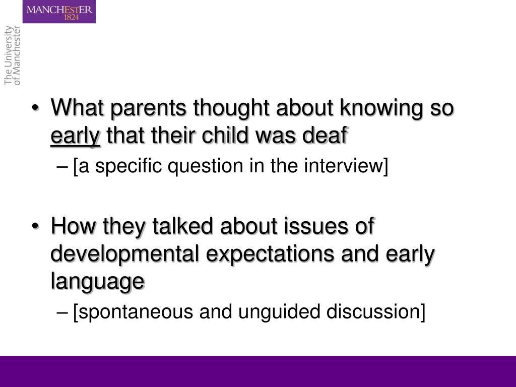What parents thought about knowing so