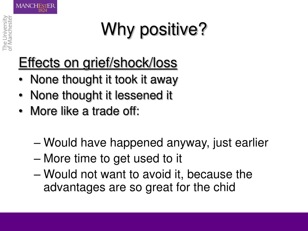 Why positive?