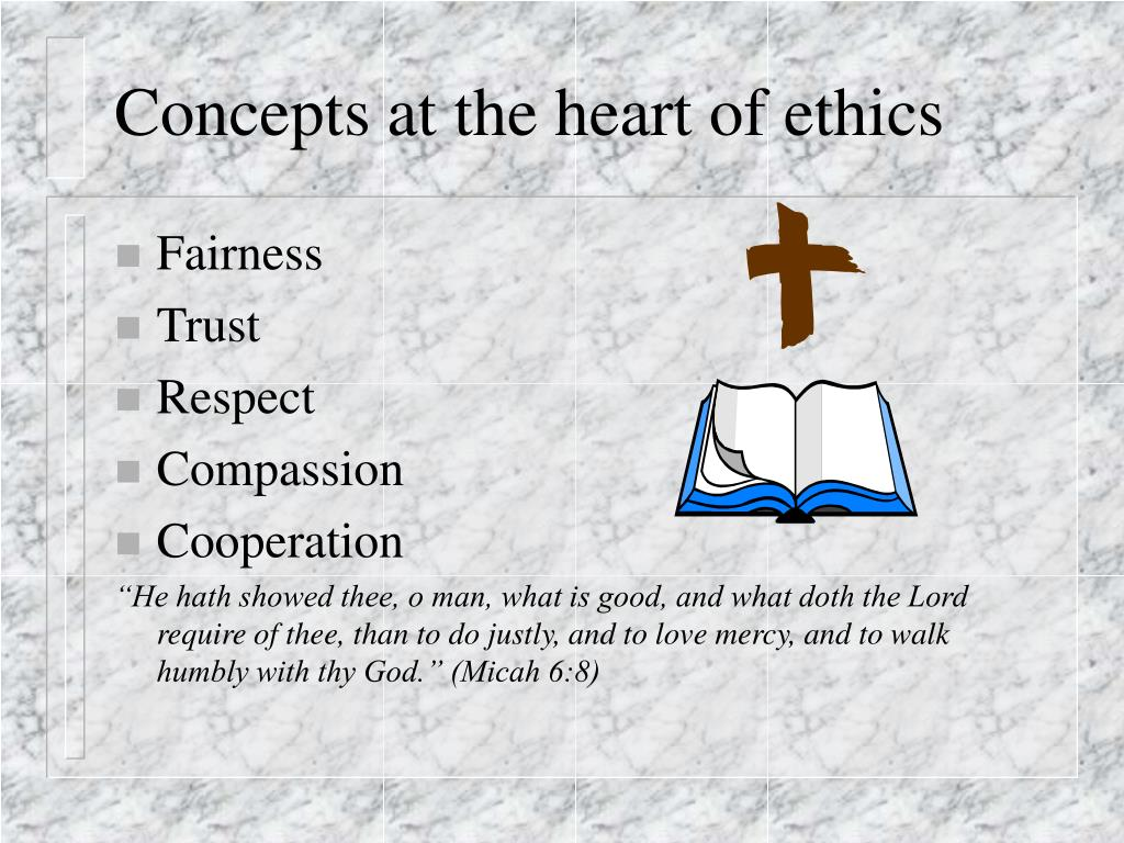 Concepts at the heart of ethics