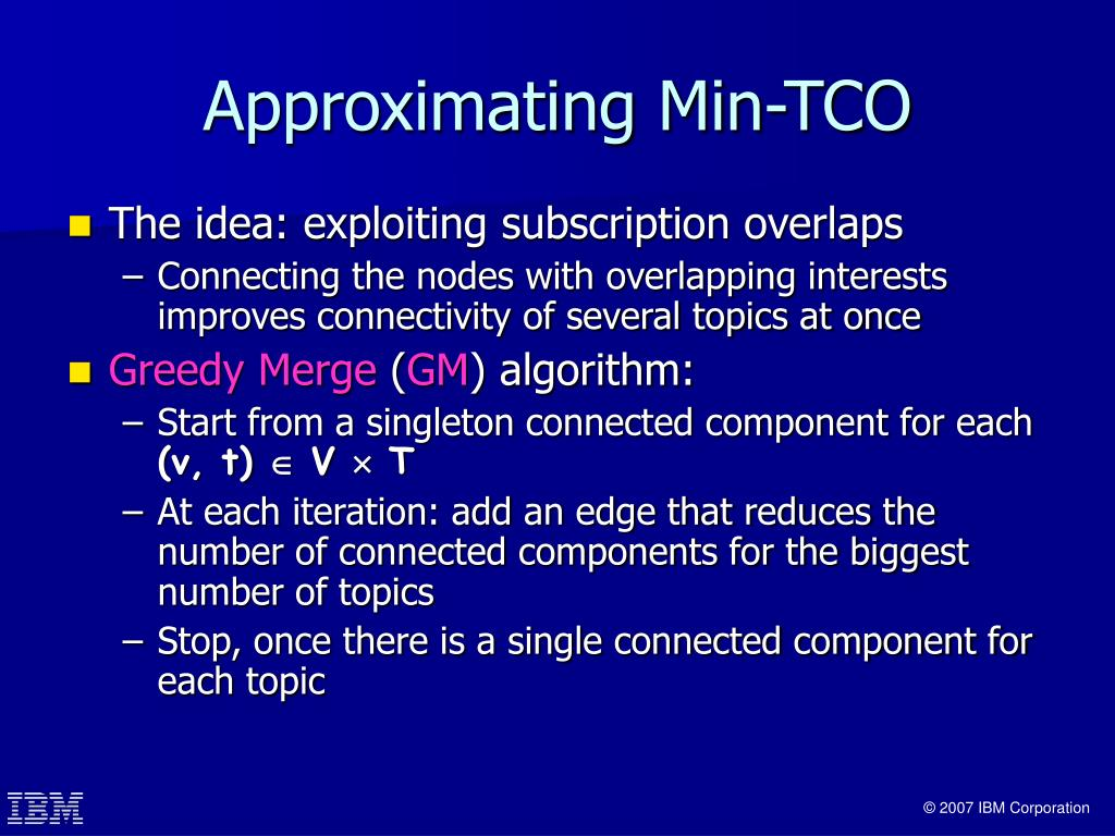 Approximating Min-TCO