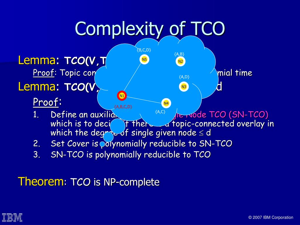 Complexity of TCO