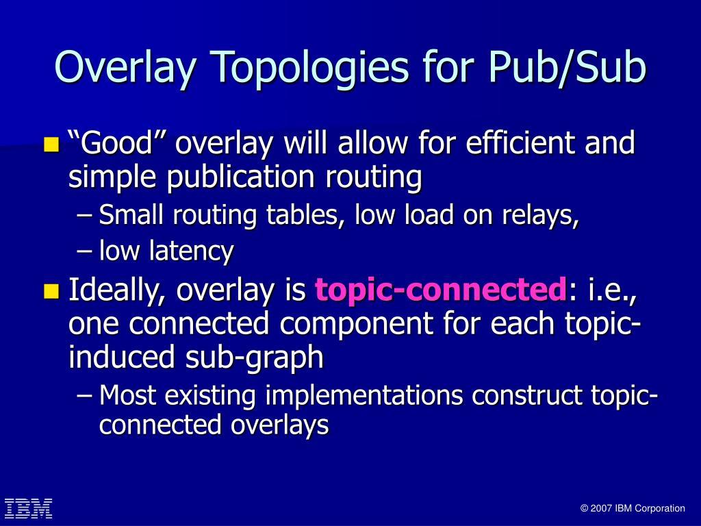 Overlay Topologies for Pub/Sub