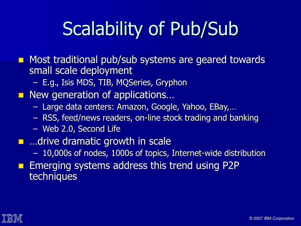Scalability of Pub/Sub