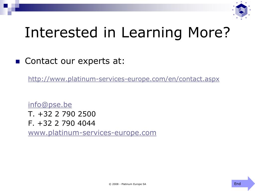 Interested in Learning More?