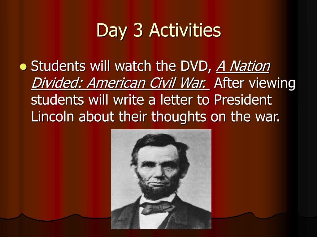 Day 3 Activities