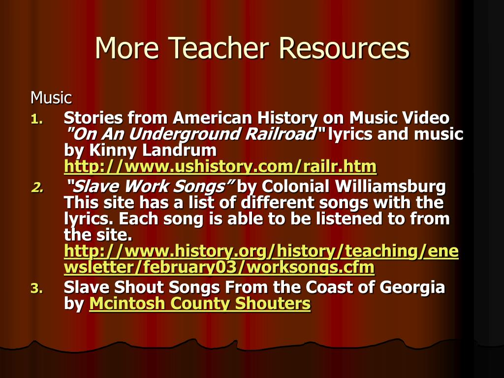 More Teacher Resources