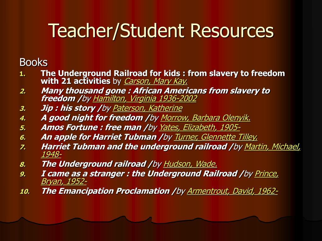 Teacher/Student Resources