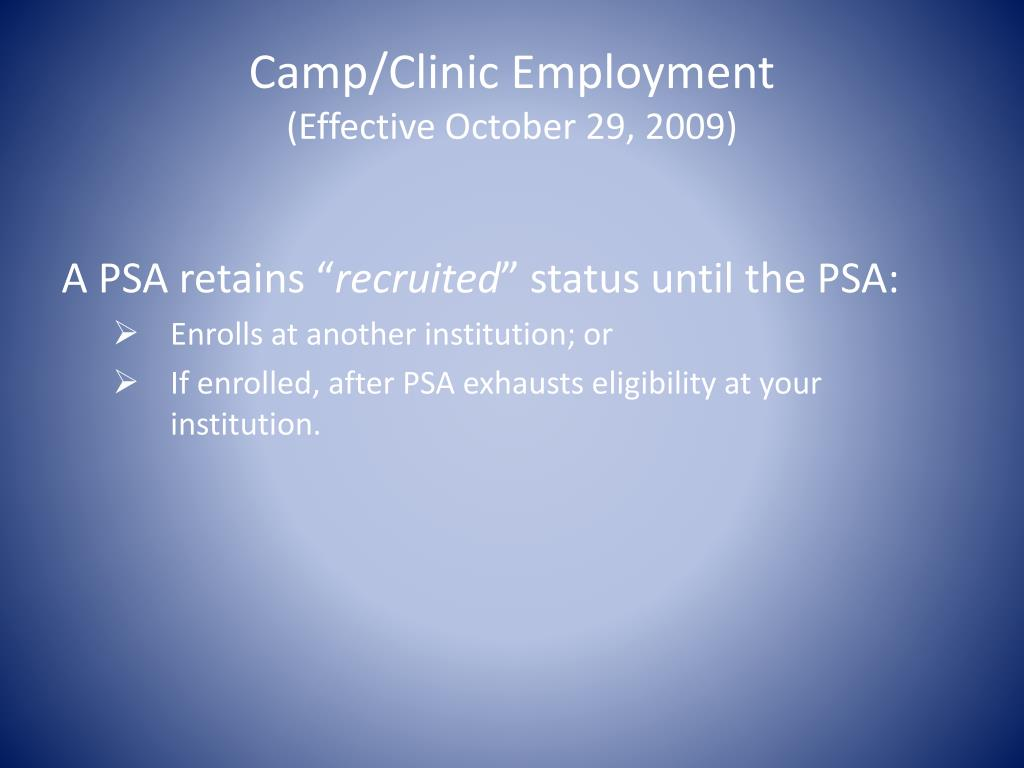 Camp/Clinic Employment