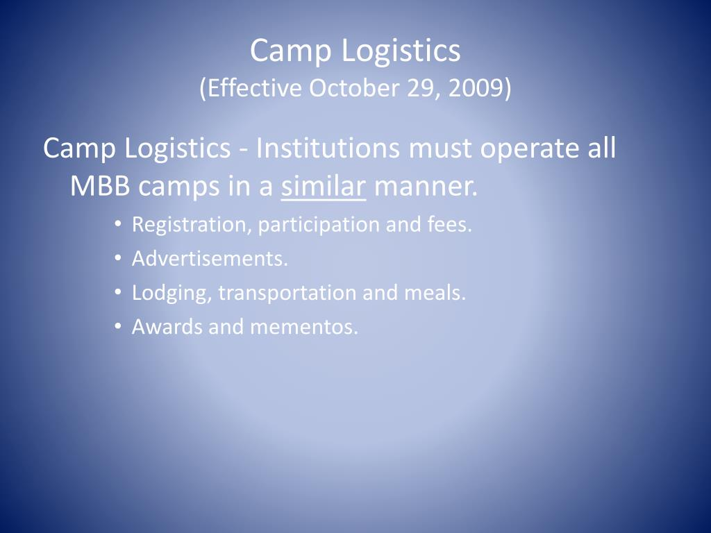 Camp Logistics