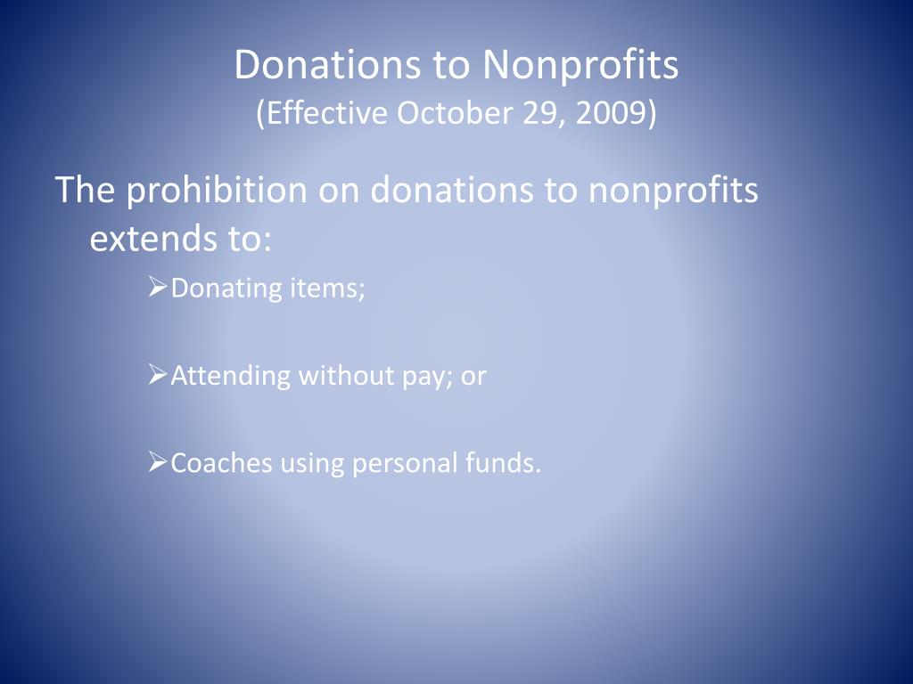 Donations to Nonprofits