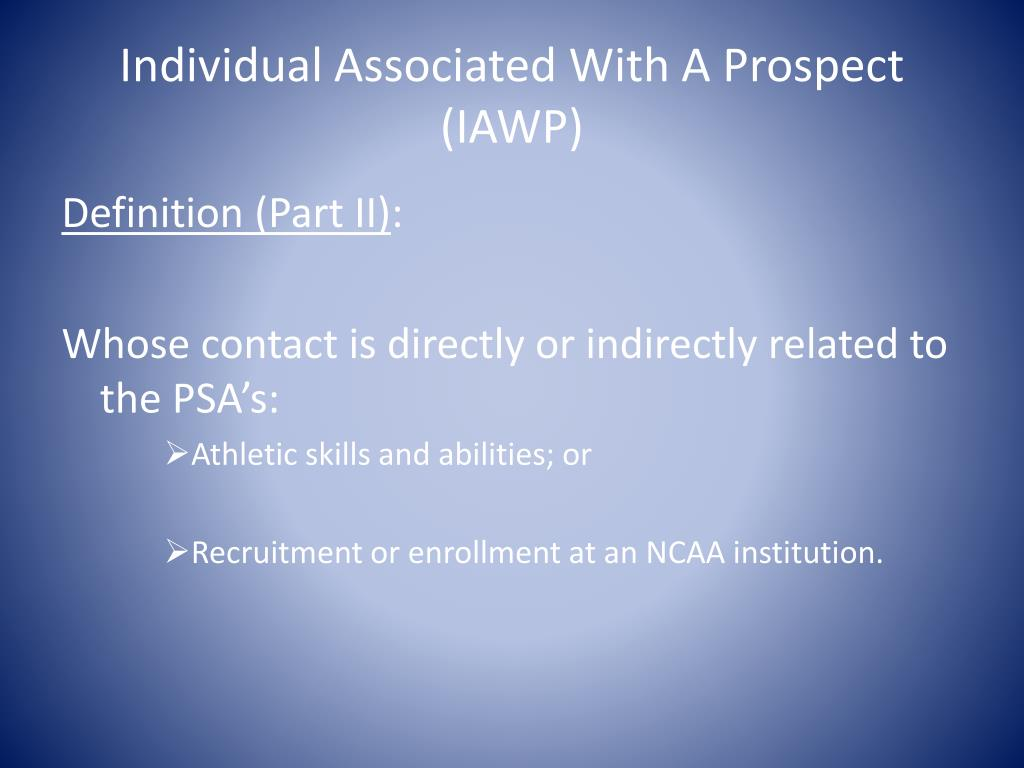 Individual Associated With A Prospect