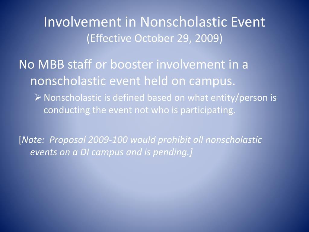Involvement in Nonscholastic Event