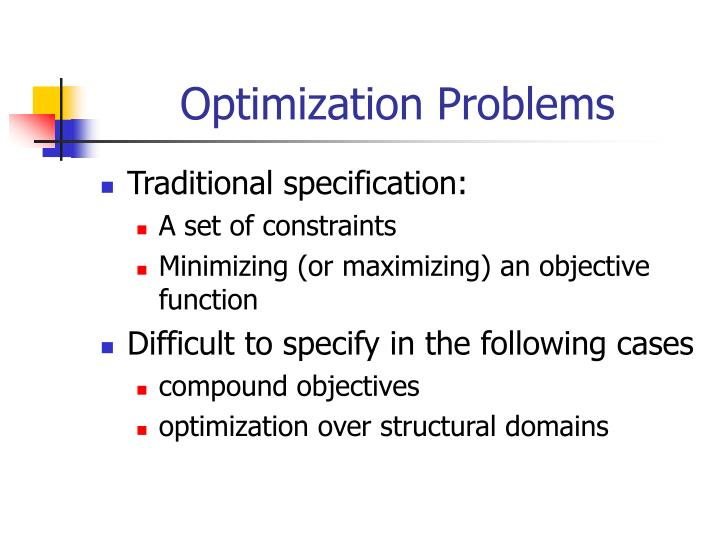 Optimization problems
