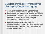 grundannahmen der psychoanalyse bertragung gegen bertragung