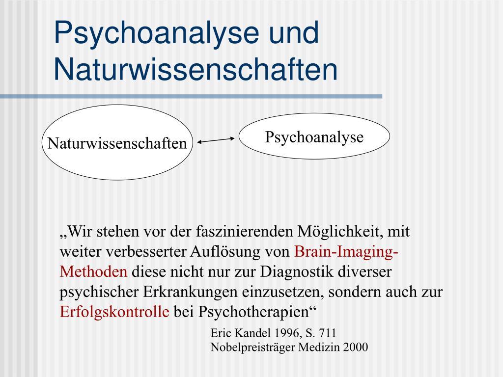 Psychoanalyse und Naturwissenschaften