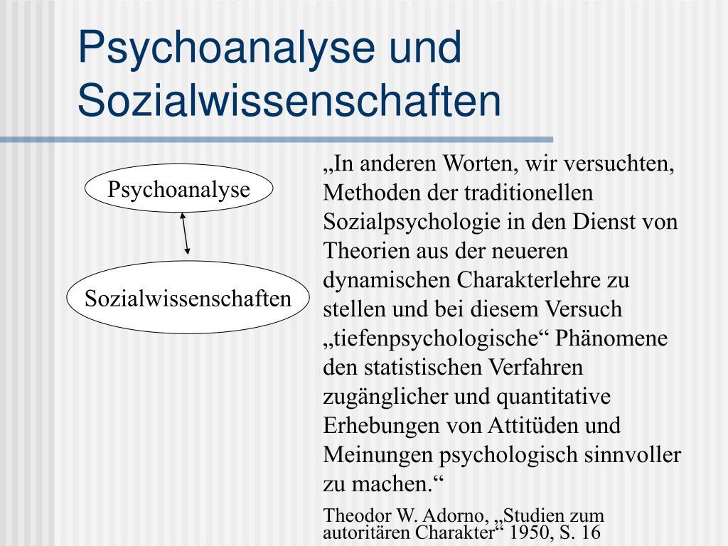 Psychoanalyse und Sozialwissenschaften