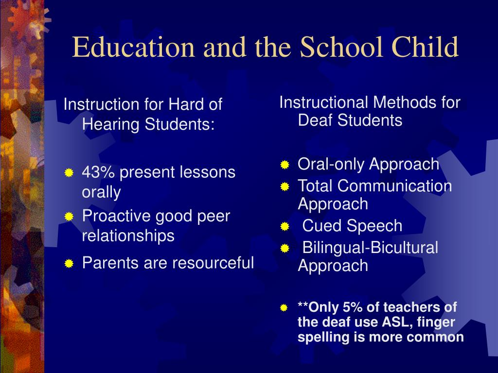 Instruction for Hard of Hearing Students: