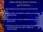 educational interventions and families
