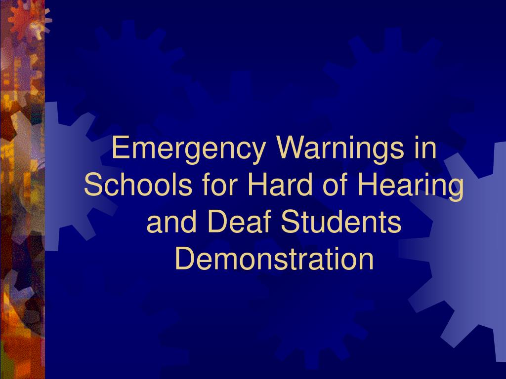Emergency Warnings in Schools for Hard of Hearing and Deaf Students Demonstration