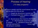 process of hearing 10 step program