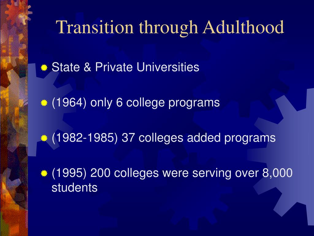 Transition through Adulthood