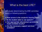 what is the best lre