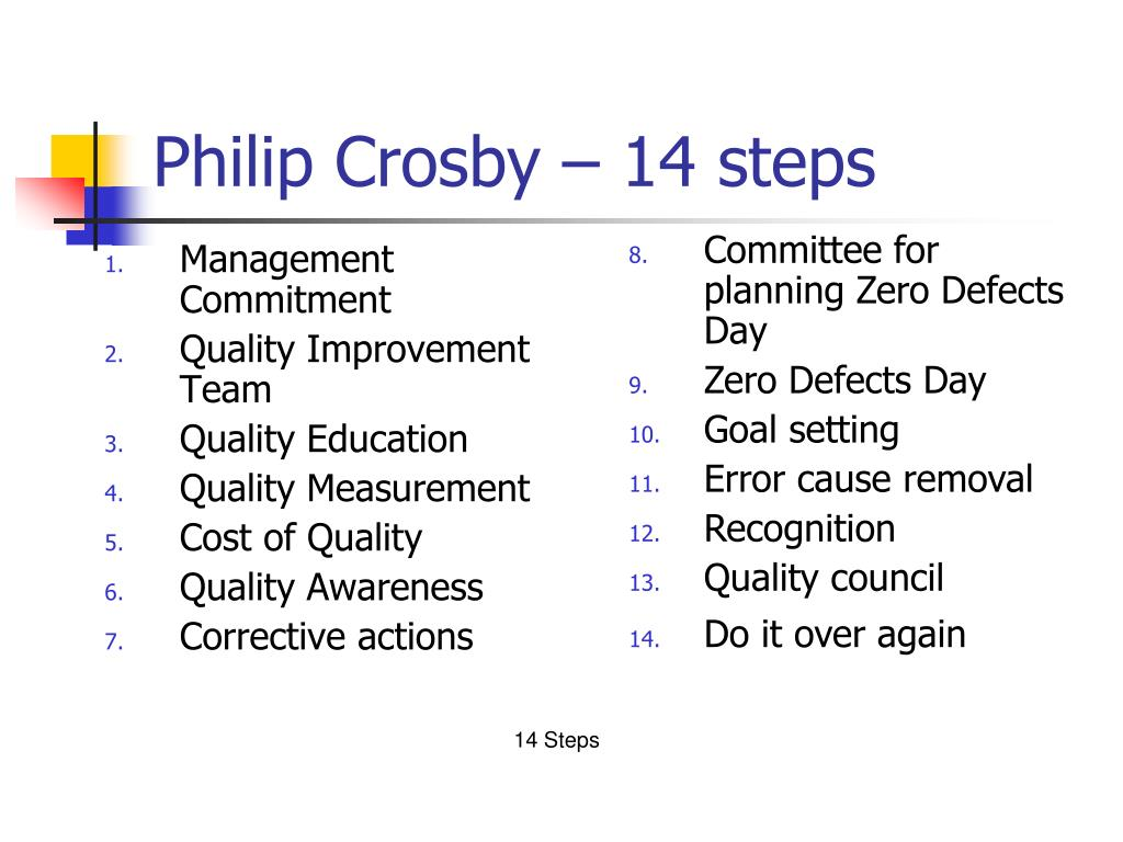 Philip Crosby – 14 steps